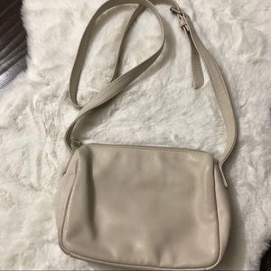Guess Bags - Guess Creme Leather Crossbody